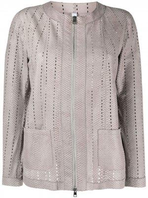 Куртка со змеиным принтом Suprema. Цвет: серый