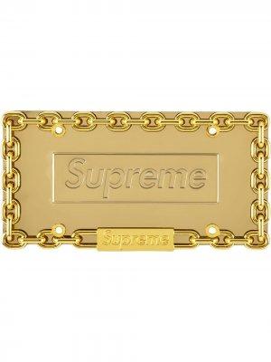 Автомобильный знак с цепочкой Supreme. Цвет: золотистый