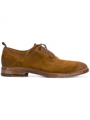 Классические ботинки Дерби N.D.C. Made By Hand. Цвет: коричневый