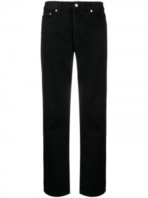 Прямые джинсы средней посадки Helmut Lang. Цвет: черный