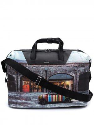 Дорожная сумка Mini Kings Cross с принтом Paul Smith. Цвет: синий