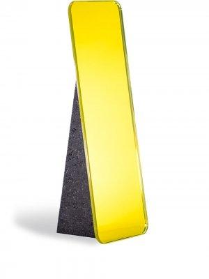 Настольное зеркало Olivia Pulpo. Цвет: желтый