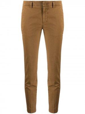 Укороченные брюки чинос Dondup. Цвет: коричневый