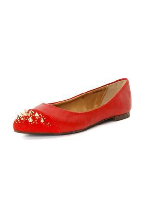 Балетки Velvet. Цвет: красный