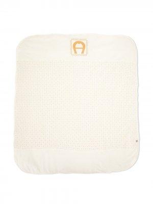 Одеяло с логотипом Aigner Kids. Цвет: белый