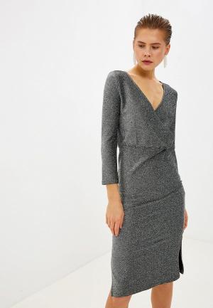 Платье Noisy May. Цвет: серебряный