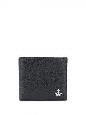Бумажник с логотипом Vivienne Westwood. Цвет: n405 черный