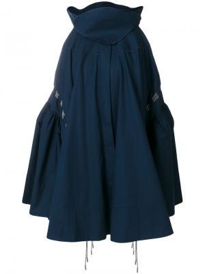 Плиссированная юбка Antonio Berardi. Цвет: синий