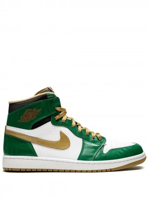 Кроссовки Air  1 Retro High Jordan. Цвет: зеленый