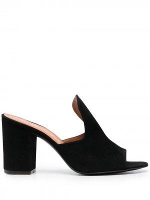 Мюли на высоком каблуке Via Roma 15. Цвет: черный