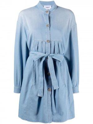 Джинсовое платье-рубашка без воротника Dondup. Цвет: синий