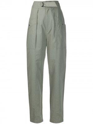 Зауженные брюки с завышенной талией Isabel Marant Étoile. Цвет: зеленый