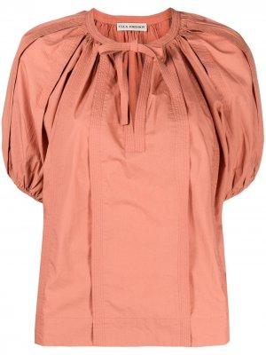 Блузка с пышными рукавами Ulla Johnson. Цвет: оранжевый
