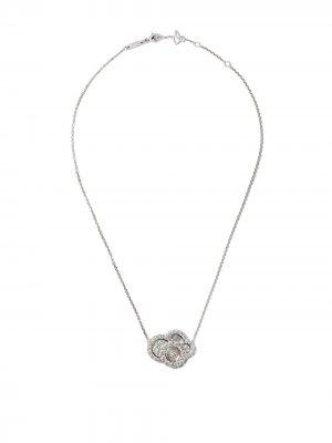 18kt white gold Happy Dreams diamond necklace Chopard. Цвет: белый