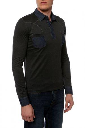 Рубашка-поло Cortigiani. Цвет: серый