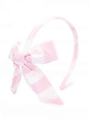 Ободок в клетку гингем Piccola Ludo. Цвет: розовый