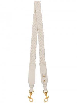 Длинный ремень для сумки Bottega Veneta. Цвет: белый