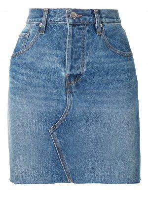 Джинсовая юбка с завышенной талией IRO. Цвет: синий