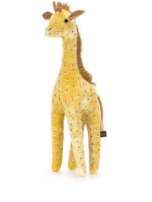 Мягкая игрушка в виде жирафа с вышивкой Anke Drechsel. Цвет: желтый