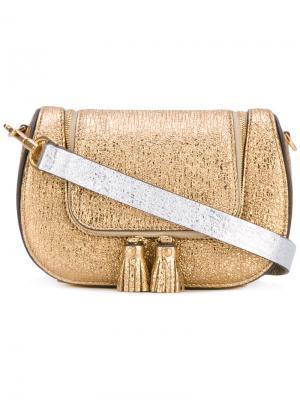 Миниатюрная сумка-сэтчел Circulus Vere Anya Hindmarch. Цвет: металлик