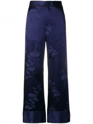 Брюки в пижамном стиле с цветочными узорами Mm6 Maison Margiela. Цвет: 478 blue jacquard