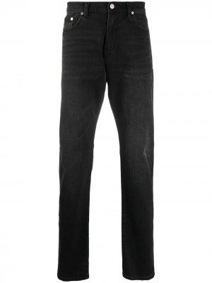 Прямые джинсы с завышенной талией PS Paul Smith. Цвет: черный
