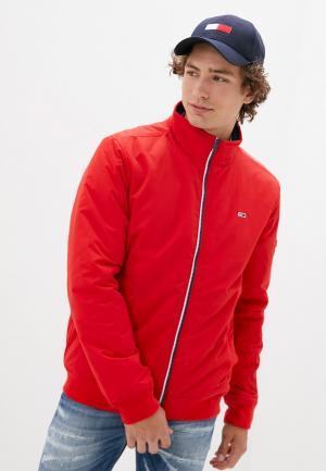 Куртка утепленная Tommy Jeans. Цвет: красный