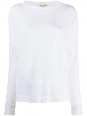 Maryya свитер с накладным карманом Ma'ry'ya. Цвет: белый