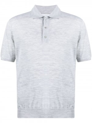 Трикотажная рубашка поло Cruciani. Цвет: серый