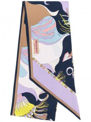 Платок с принтом Emilio Pucci. Цвет: розовый