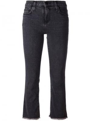 Укороченные джинсы Current/Elliott. Цвет: серый