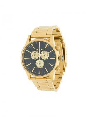 Часы Sunray с черным циферблатом Nixon. Цвет: металлик