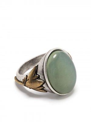 Кольцо с камнем Ports 1961. Цвет: зеленый