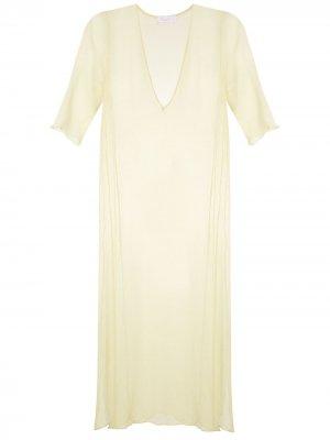 Пляжное платье Brigitte. Цвет: желтый
