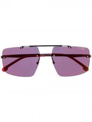 Солнцезащитные очки с двойным мостом Carrera. Цвет: черный