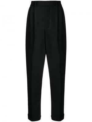 Укороченные зауженные брюки Saint Laurent. Цвет: черный
