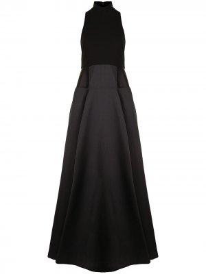 Расклешенное платье макси Daya Solace London. Цвет: черный