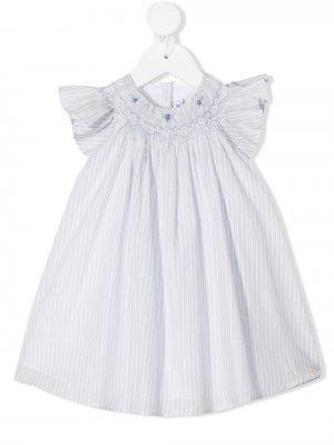 Полосатое платье с оборками Tartine Et Chocolat. Цвет: черный