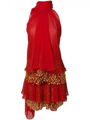 Платье Pouty1 Talbot Runhof. Цвет: красный