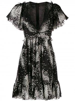 Расклешенное платье с принтом Giambattista Valli. Цвет: черный
