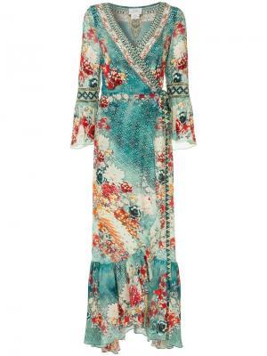 Платье с запахом Her Heirloom Camilla. Цвет: разноцветный