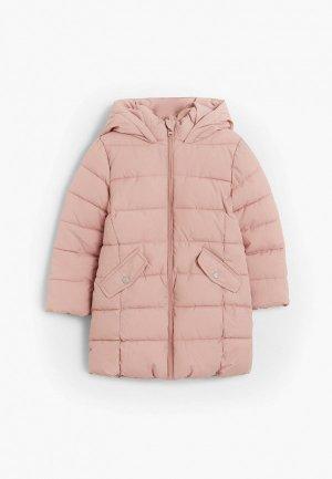 Куртка утепленная Mango Kids. Цвет: розовый