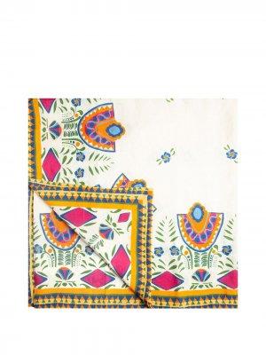 Скатерть с геометричным принтом La Doublej. Цвет: белый