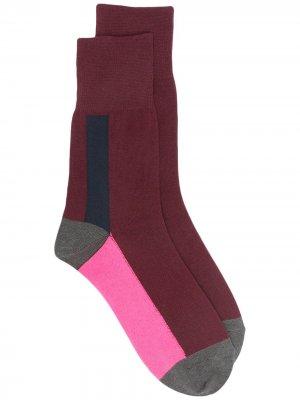 Ys носки в стиле колор-блок Y's. Цвет: красный