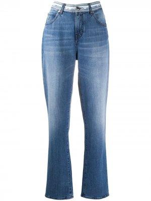 Прямые джинсы Karen с логотипом на поясе Jacob Cohen. Цвет: синий