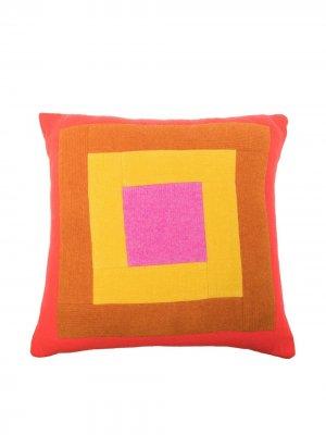 Кашемировая подушка с узором The Elder Statesman. Цвет: оранжевый