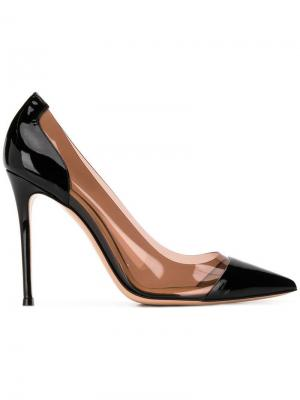 Туфли-лодочки Plexi Gianvito Rossi. Цвет: черный