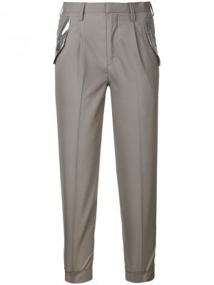 Узкие брюки Kolor. Цвет: нейтральные цвета