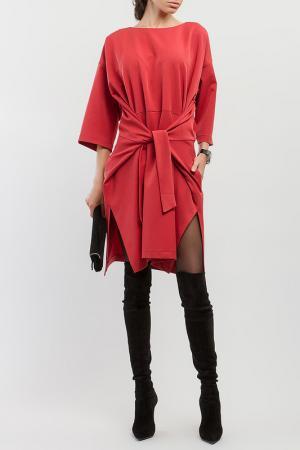 Платье BGL. Цвет: терракотовый