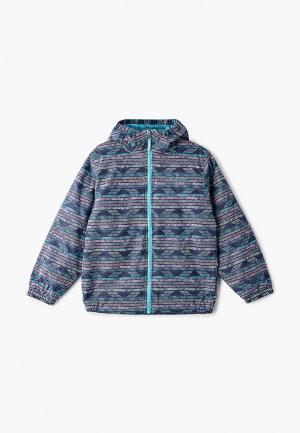 Куртка утепленная Columbia. Цвет: разноцветный